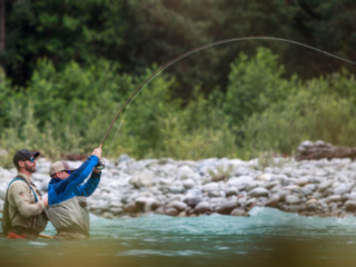 fighting a bull trout