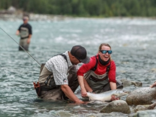 Fat bull trout on the fly