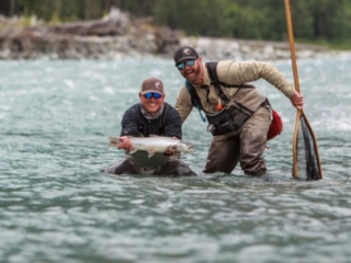 Bull trout caught on the Pitt River