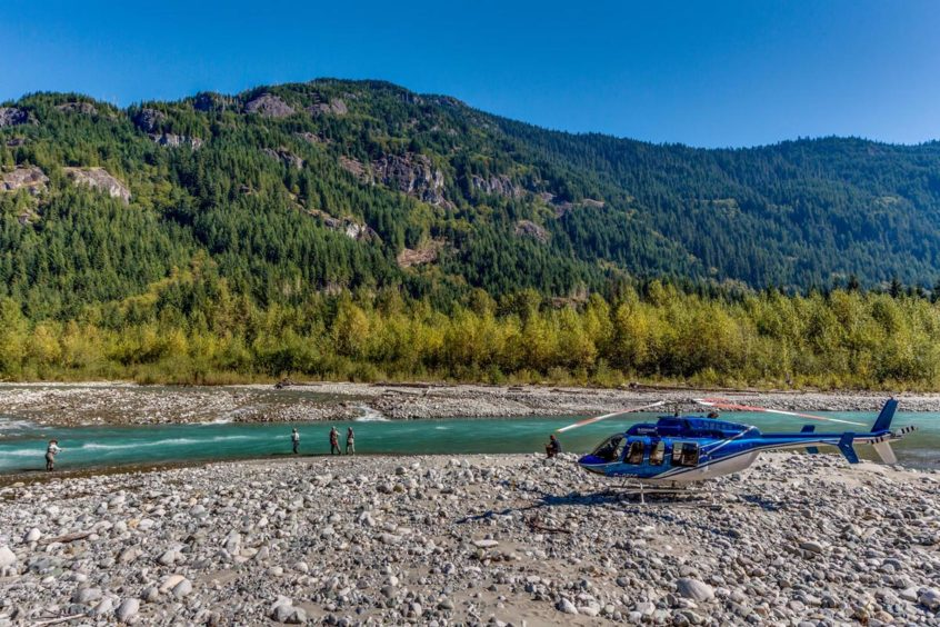 helicopter fly fishing trips from whistler