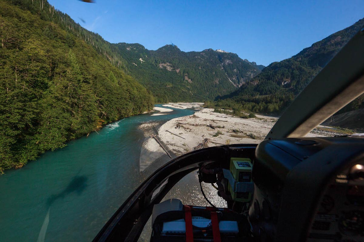 Helicopter Fly-Fishing Trips near Squamish, BC