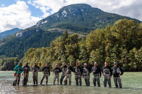 Group fly fishing trip near Vancouver, B.C.
