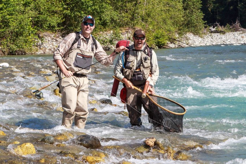 Fly fishing day trips by helicopter from Whistler, B.C.