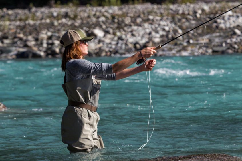 Fly fishing near Squamish, B.C.