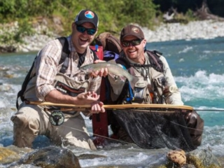 Fly fishing by helicopter in Southern British Columbia