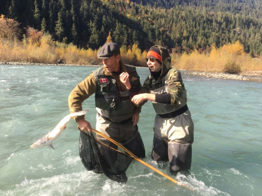 Dropped a bull trout in the river