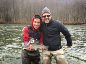 Father and Son on a Guided Trip for Bull Trout