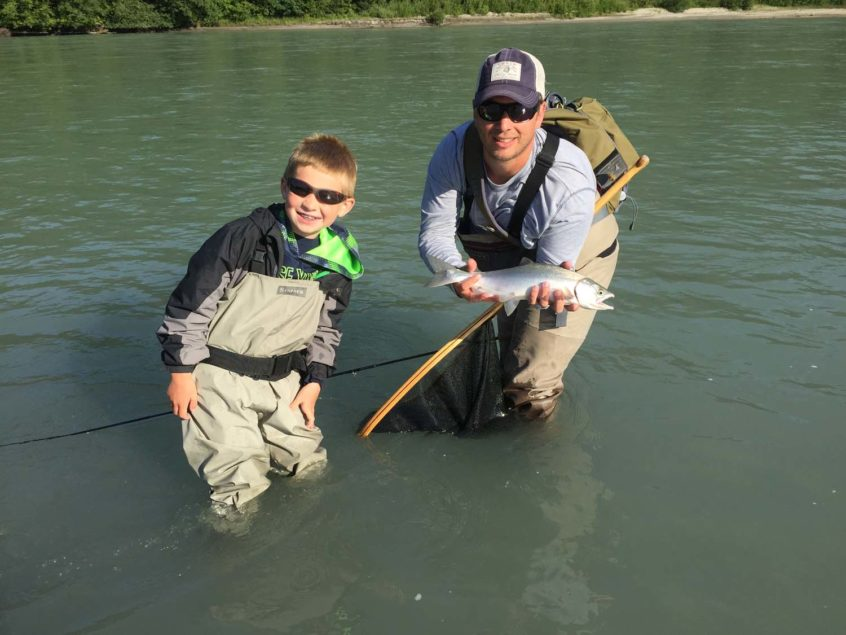 squamish pink salmon fishing with kids
