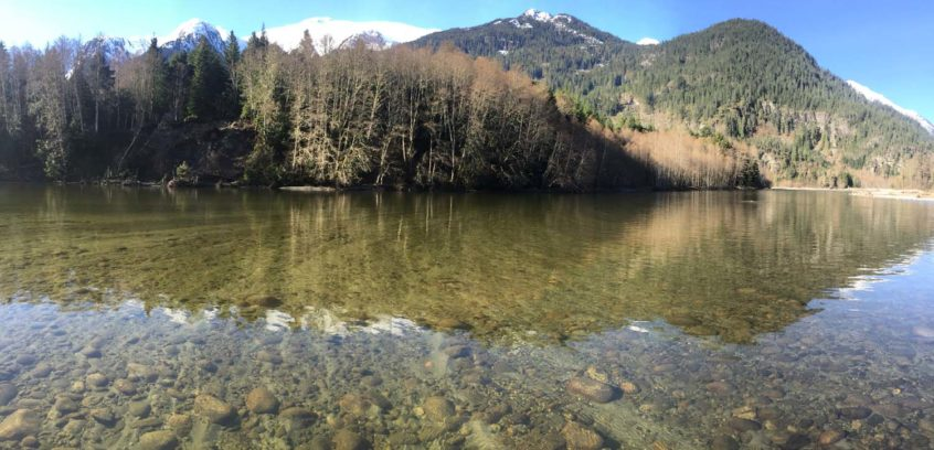 Clear water in Squamish BC