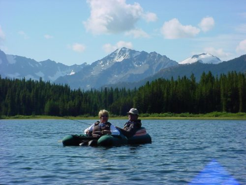Fly fishing near the B.C. mountains