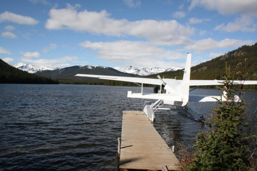 Float plane for fly-in Fishing Trips near Whistler