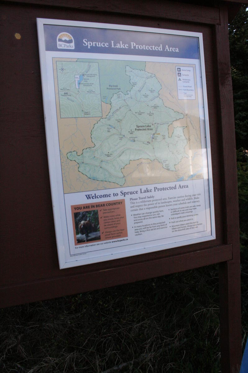 Spruce Lake Protected Area map