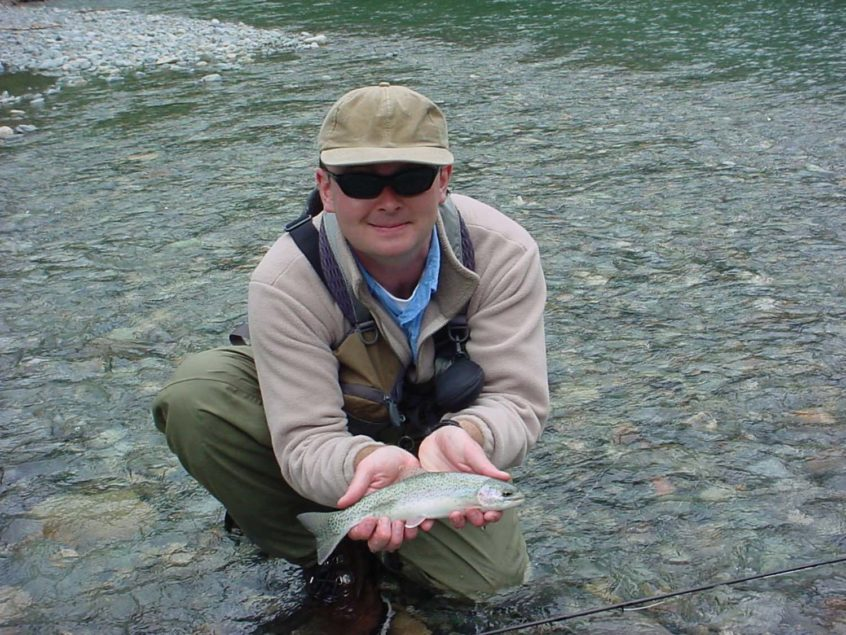 Small rainbow trout
