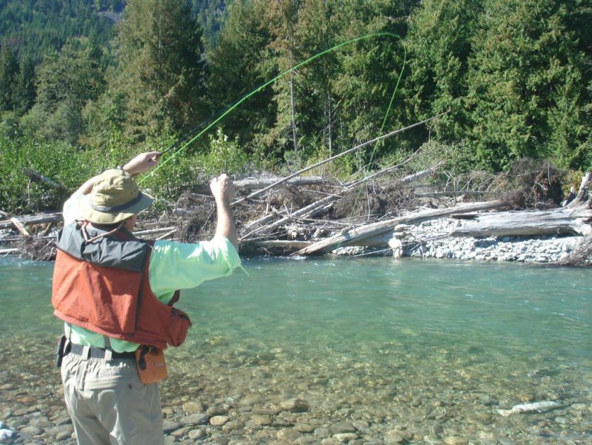 dry fly fishing in Whistler