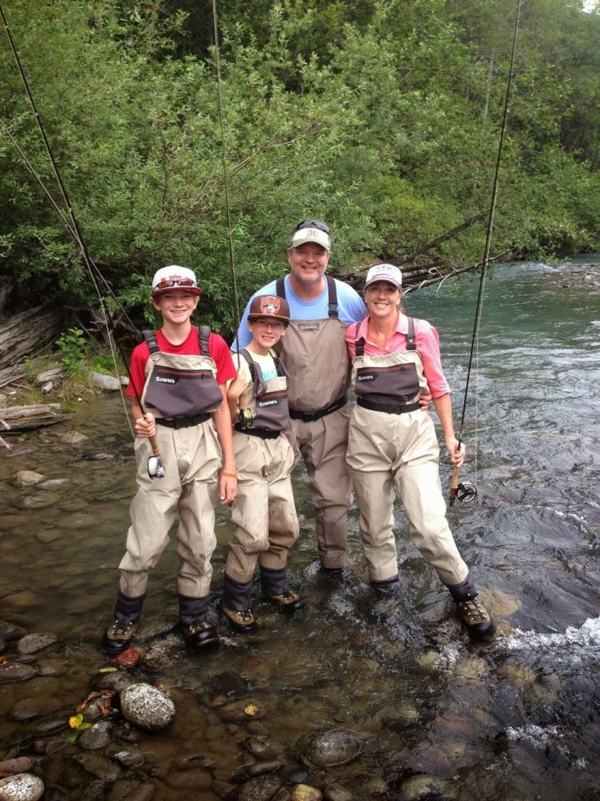 Fly Fishing Family in Whistler