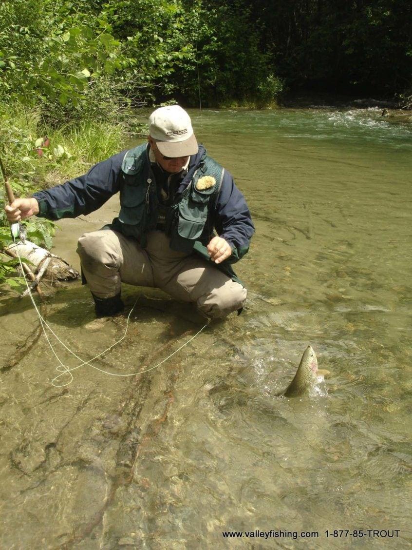 Fly fishing near Whistler BC
