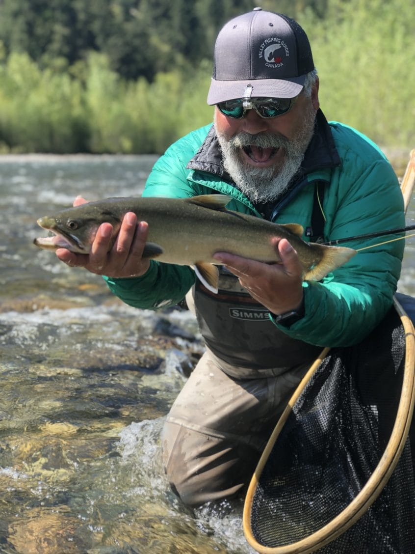 Igor Slavic with a nice Bull Trout in BC