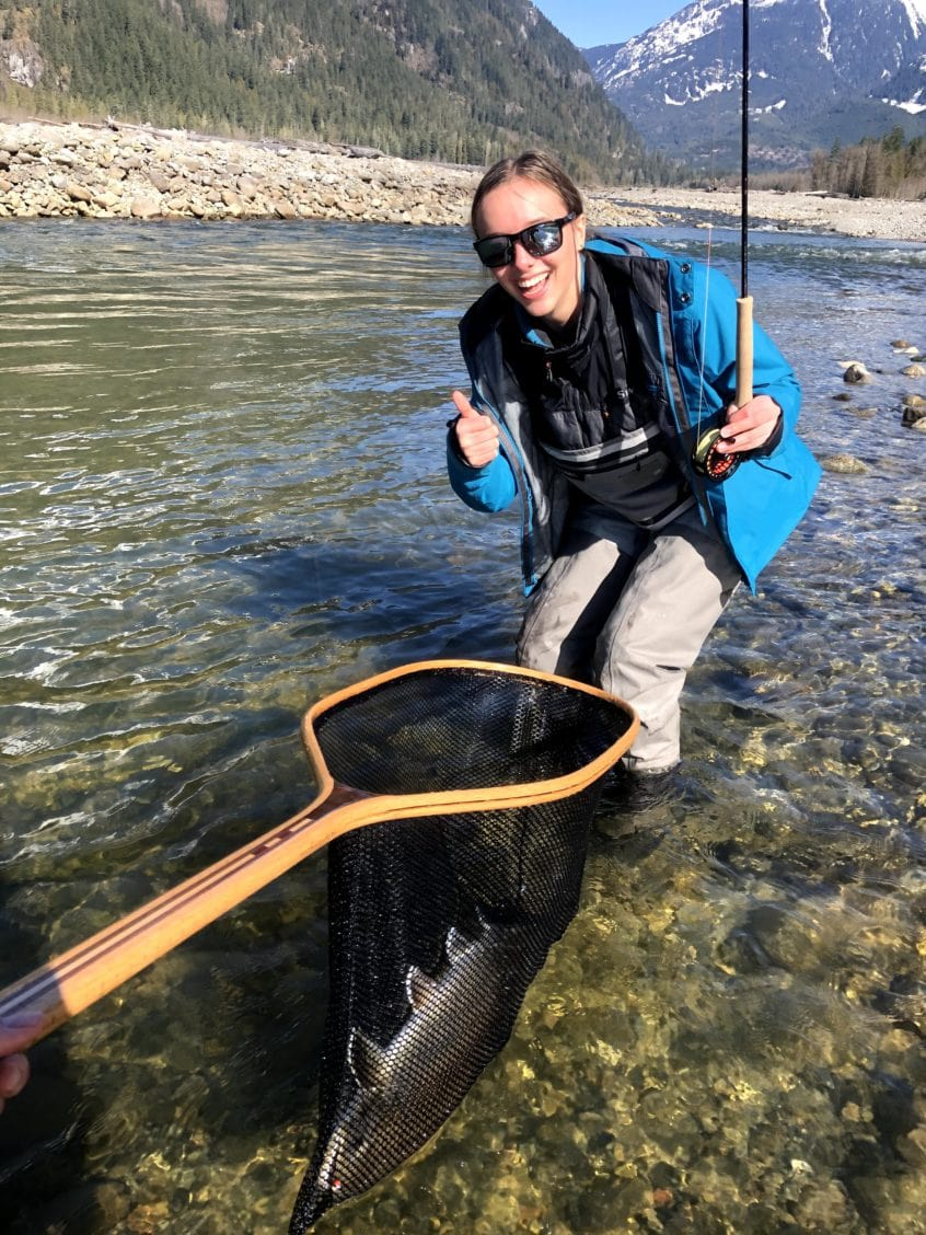 Spring Bull Trout in the Net